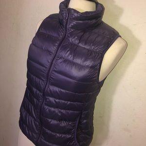 Uniqlo Packable Purple Down Vest
